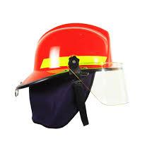 helm pemadam kebakaran sos