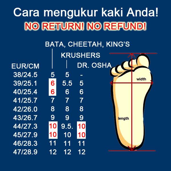 cara mengukur sepatu safety