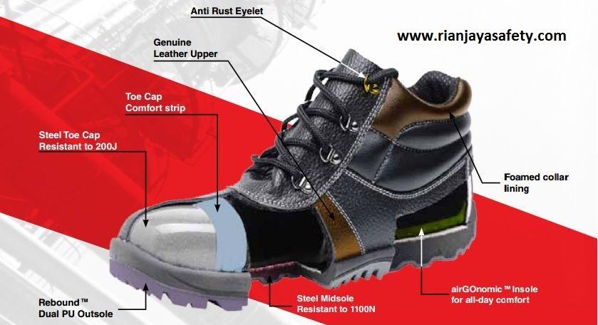 Sepatu Safety Cheetah Rian Jaya