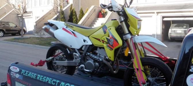 Angkut Sepeda Motor Menggunakan Ratchet Tie Down