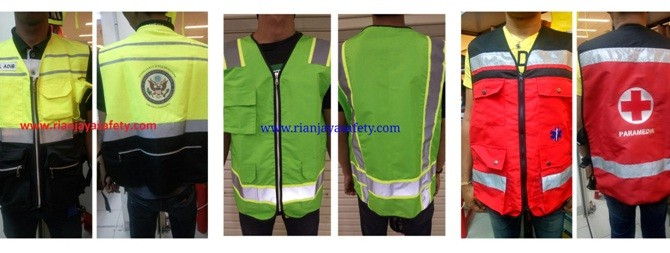 Custom Safety Vest Bahan Taslan