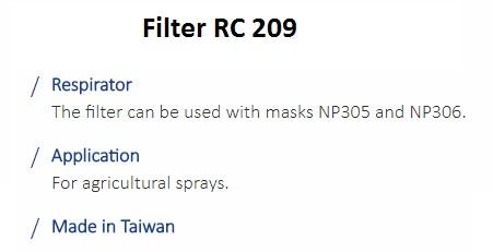 FILTER RC 209 1