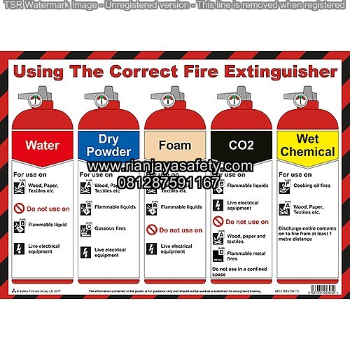 FIRE EXTINGUISHER USE ON