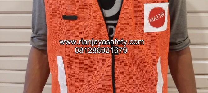 Jahit rompi safety logo perusahaan