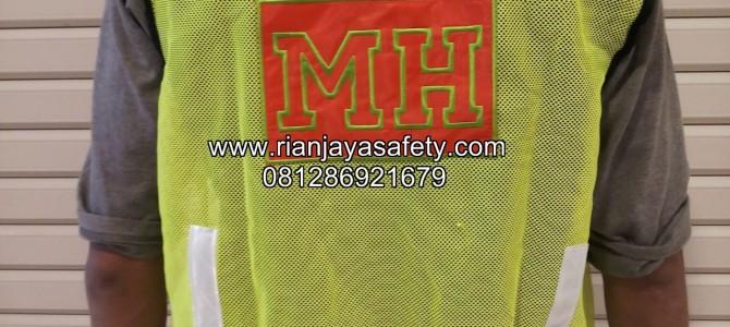 Terima jahit rompi safety dengan logo perusahaan