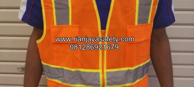 Jahit safety vest murah logo perusahaan