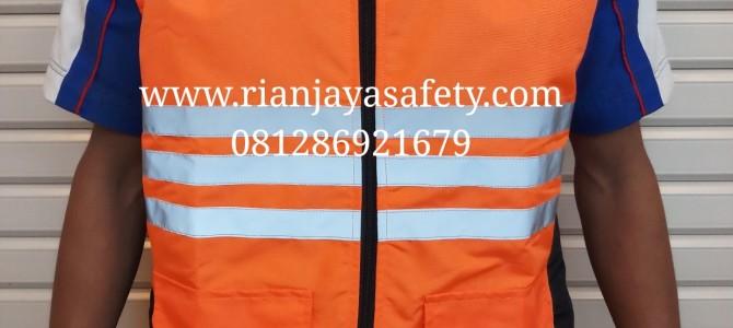 Rompi safety custom logo perusahaan