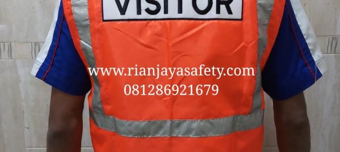 Custom jahit rompi safety vest logo perusahaan