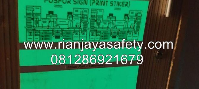 jual emergency sign glow in the dark