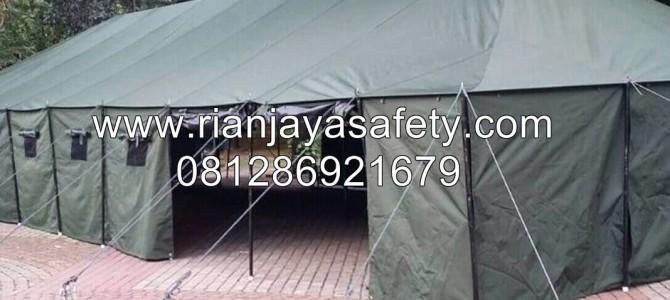 jual tenda ukuran 6×14 pleton barak