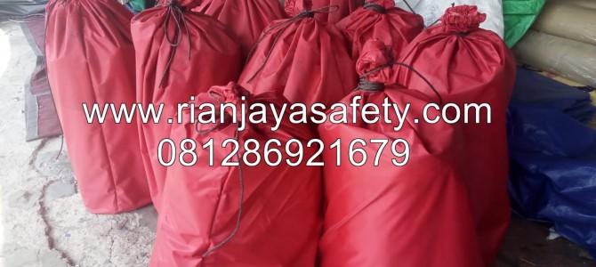 jual tenda custom sablon logo perusahaan bantuan bencana alam