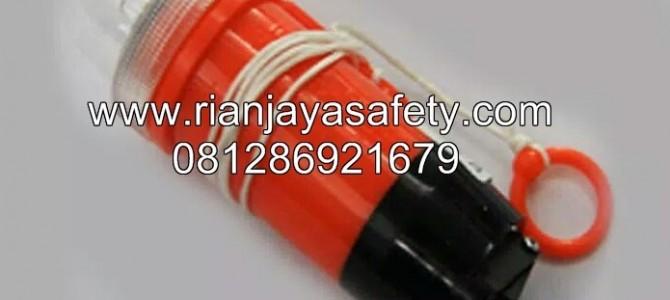 Lampu life jacket dengan batere ABC manual
