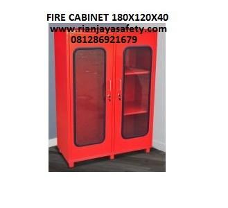 Jual fire cabinet ukuran 180x120x40 cm standard damkar