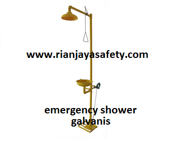 jual emergency shower murah bahan galvanis di makassar
