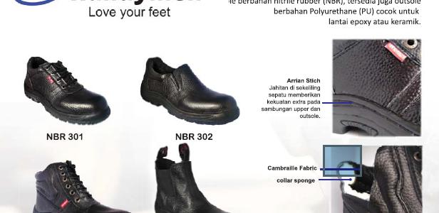 sepatu PDL security kulit asli dan depan besi