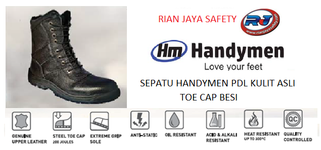 fungsi sepatu security berbahan kulit asli dan berbahan besi