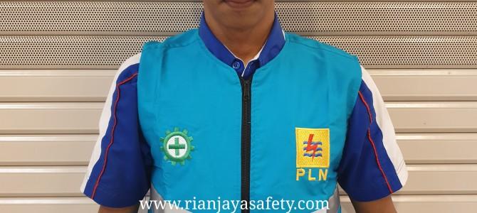 pembuatan safety vest ropi proyek logo k3