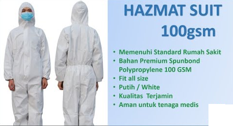 coverall apd hazmat suit